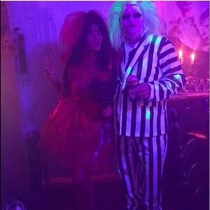 Other - Beetle juice xtra large costume with wig.